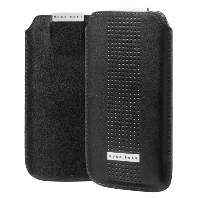 Калъф тип джоб HUGO BOSS Cologne за iPhone 5/5S, луксозен, кожен, черен image