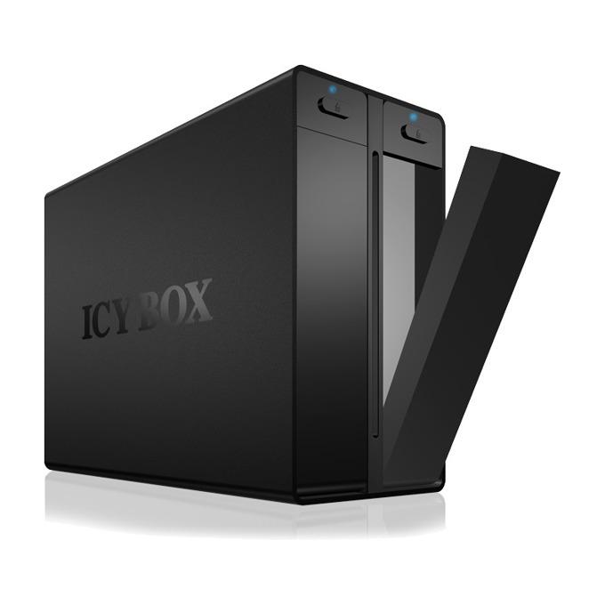"""Кутия 3.5"""" (8.89 cm) RaidSonic IB-3662U3 за 2x 3.5"""" (8.89 cm) HDD, SATA, USB 3.0, черна image"""