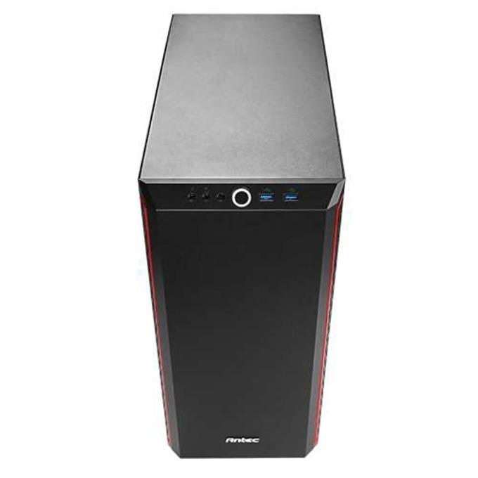 Кутия Antec ATX Performance P7 Window, ATX/Micro ATX/ITX, 2x USB 3.0, черна/червена, без захранване image