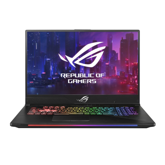 "Лаптоп Asus ROG Strix SCAR II GL704GV-EV008 (90NR01Y1-M00580), шестядрен Intel Core i7-8750H 2.2/4.1 GHz, 17.3"" (43.94 cm) FHD Anti-Glare 144Hz Display & GeForce RTX 2060 6GB , (HDMI), 16GB DDR4, 1TB HDD & 256GB SSD, USB 3.1 Type-C, Free DOS, 2.9 kg image"