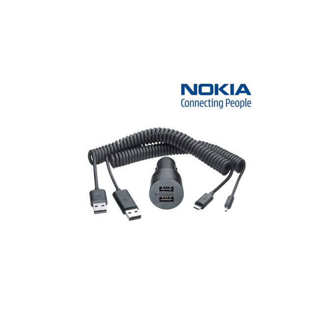 Зарядно за кола Nokia DC-20 Dual 2x microUSB, двойно, за Nokia смартфони image