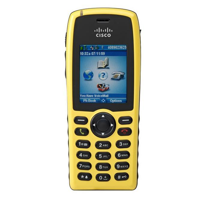 VoIP Телефон, Cisco Unified Wireless 7925G-EX, 6 линии, цветен дисплей, безжичен, Wi-Fi image