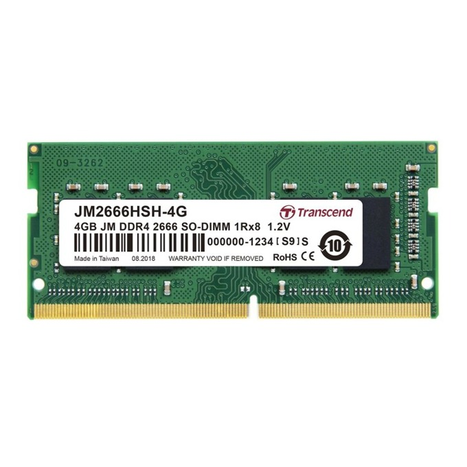 Памет 4GB DDR4 2666MHz, SO-DIMM, Transcend JM2666HSH-4G, 1.2V image