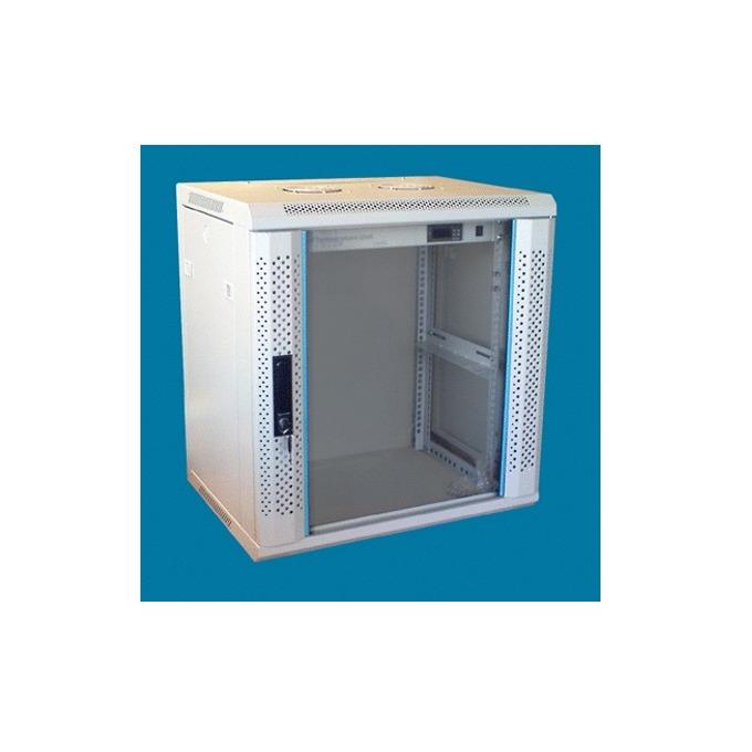 "Комуникационен шкаф Toten WM.6406, 19"", 6U, 600x450 мм, до 60кг товароносимост, сваляеми страни image"