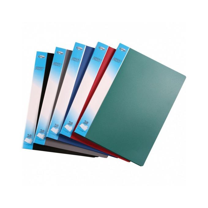 Папка Centrum Visit, за документи с формат до А4, с 60 джоба, различни цветове image