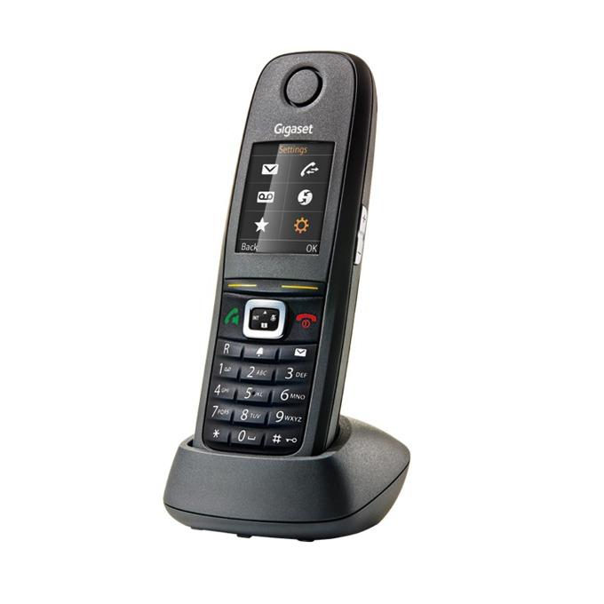 """Безжичен телефон Gigaset R 630H PRO, 1.8"""" (4.6cm) TFT цветен дисплей, черен image"""