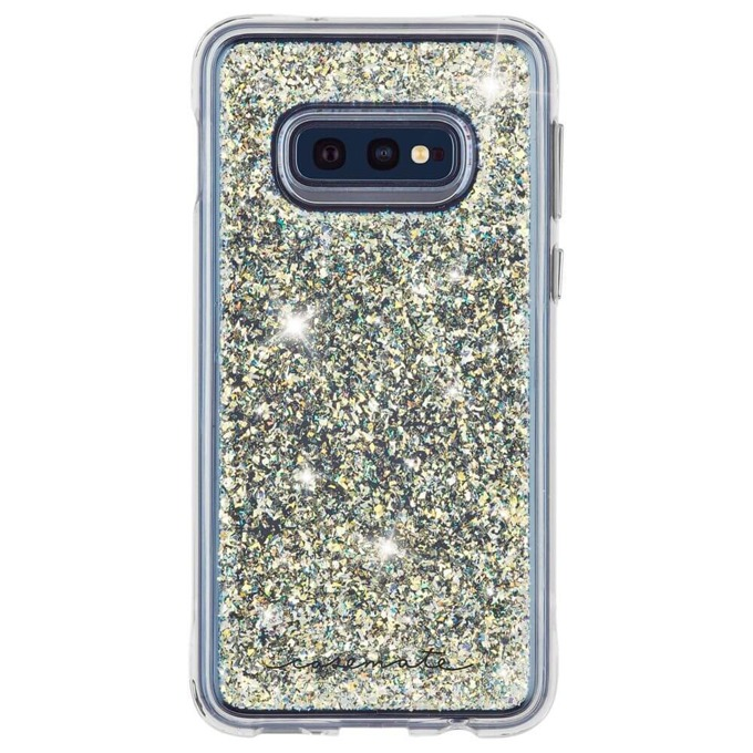 Kалъф за Samsung Galaxy S10e, полимер и TPU, CaseMate Twinkle CM038506, бял image
