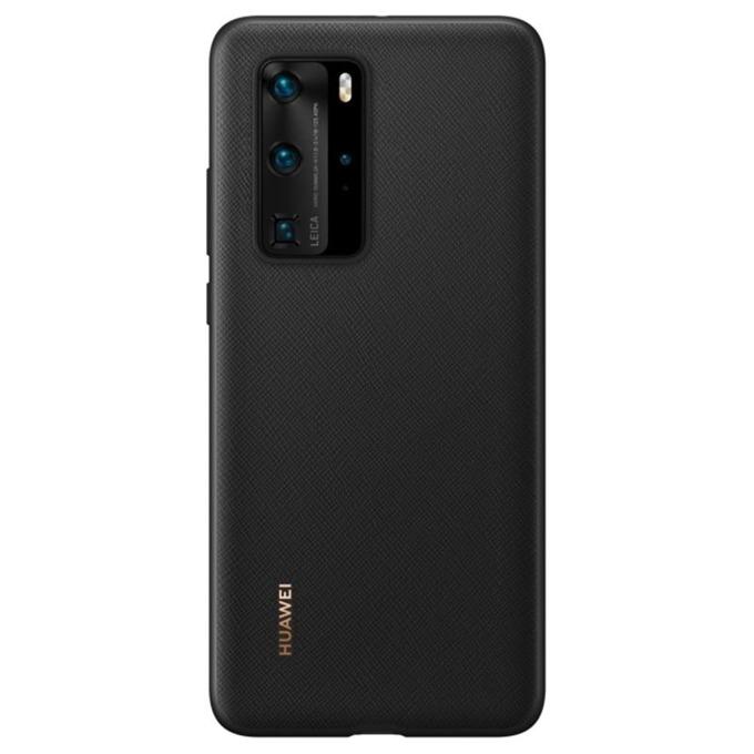 Калъф за Huawei P40 Pro, полиуретанов, Huawei PU (51993787), черен image