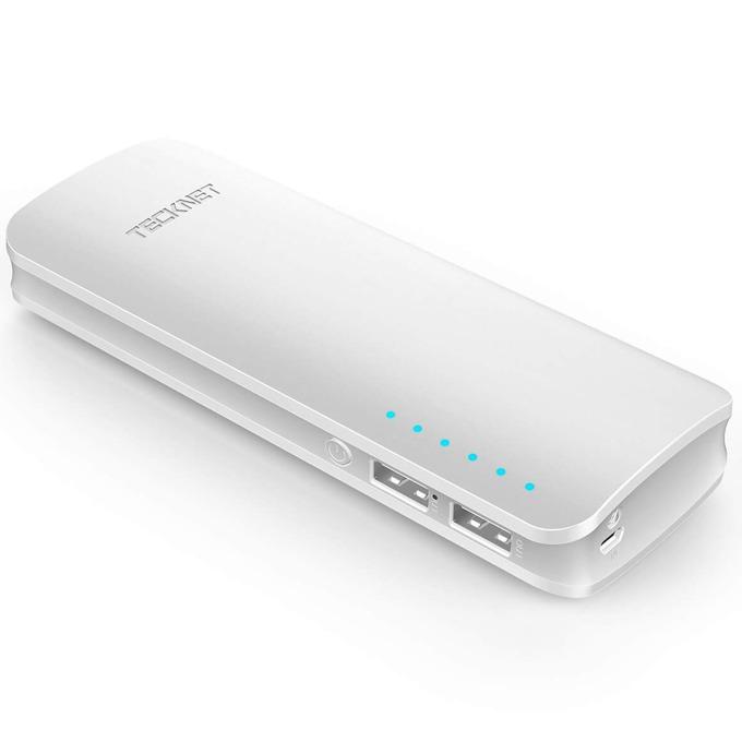 Външна батерия/power bank TeckNet iEP1500 PowerZen, 16750mAh, бяла, 2xUSB, фенерче, за смартфони и таблети image