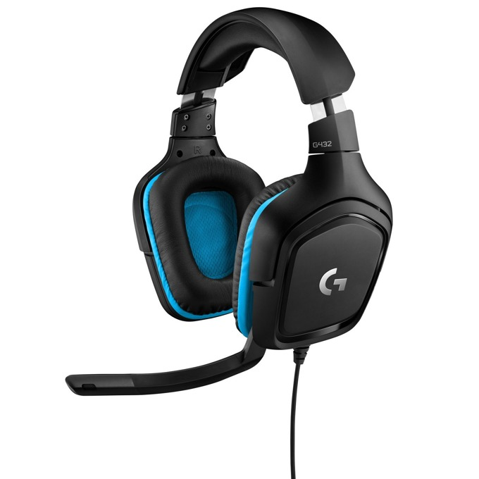 Гейминг слушалки Logitech G432 - 7.1 Surround