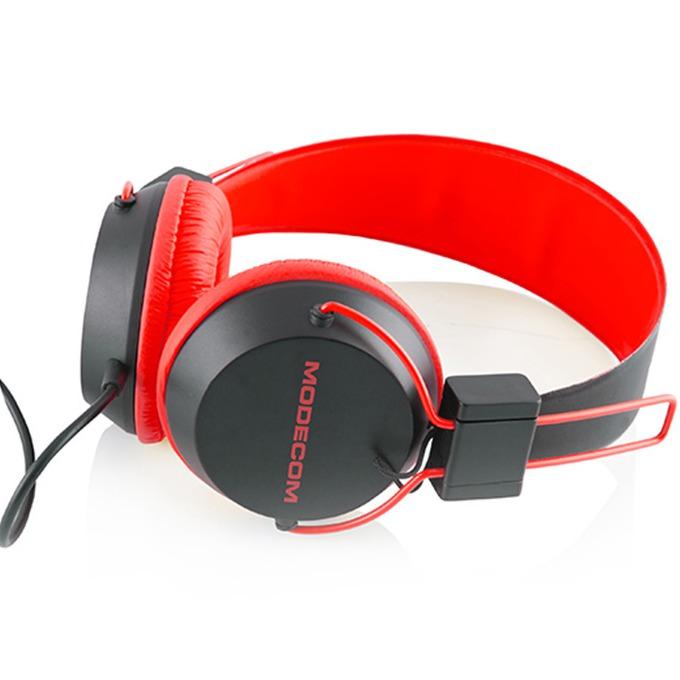 Слушалки Modecom MC-400 Circuit, микрофон, червени image