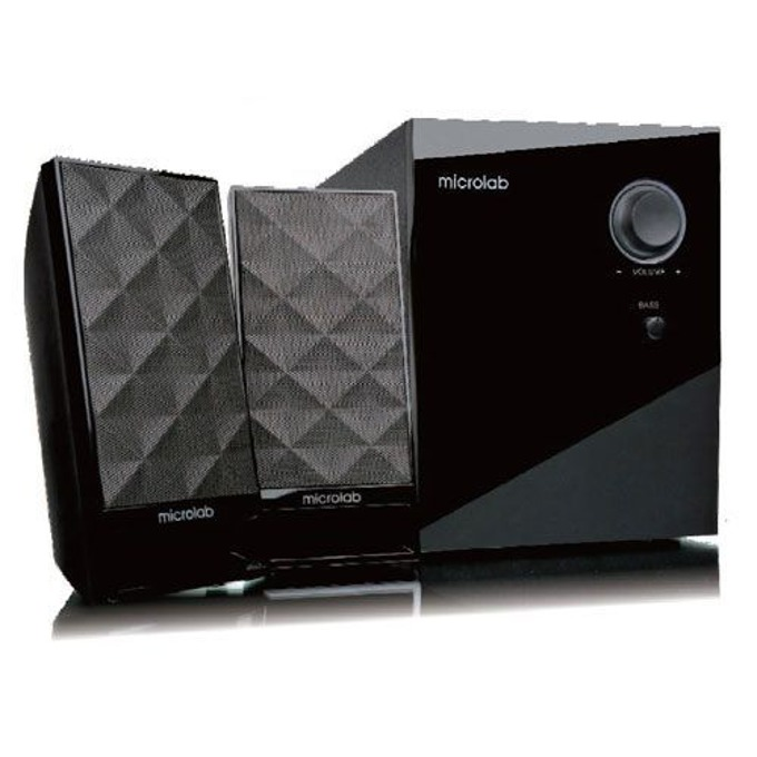 Тонколона Microlab M-300, 2.1, 40W, output-2RCA;input-3,5mm jack stereo, черна  image