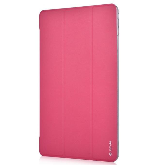 """Калъф /тип бележник/ Devia Light Grace за iPad Pro, до 9.7""""(24.6 cm), кожен, поставка, розов image"""
