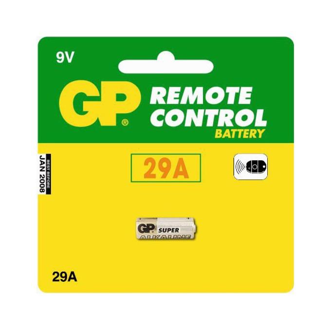 Батерии алкални GP Remote Control А29, 9V, 5 бр. в опаковка, цена за 1 бр. image