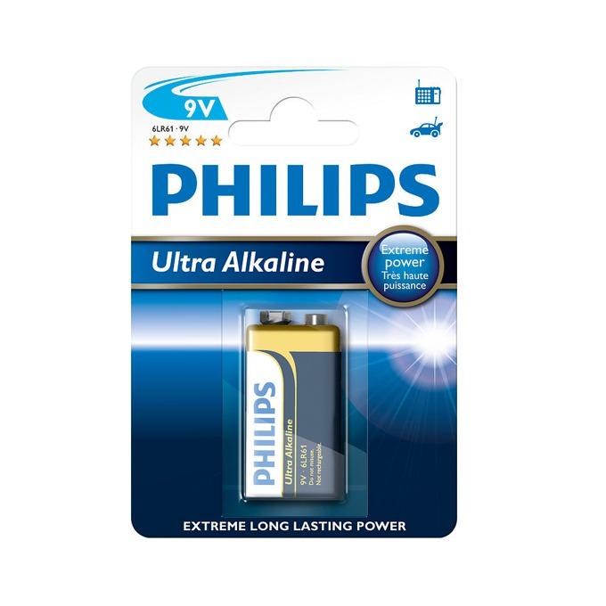 Батерия алкална Philips Ultra 6LR61, 9V, 1 бр. image