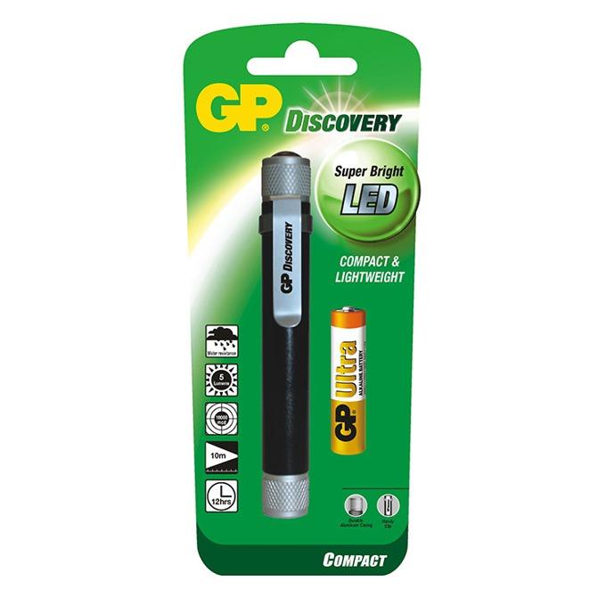Фенер GP LCE205, 1x AAA батерии, 5 lumens, удароустойчив, водонепропускваем, джобен, черен  image