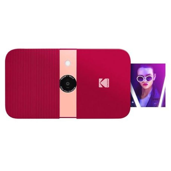 Фотоапарат Kodak Smile RODSMCAMRD(червен), 10 Mpix, снимки с размер 2x3ʺ на хартия ZINK, LCD дисплей, MicroSD до 256GB image
