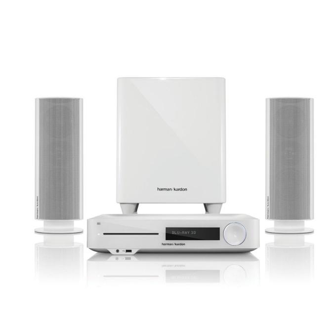 Система за домашно кино harman/kardon BDS 485S , 2.1, безжична, Bluetooth, WiFi, AirPlay, Spotify, RMS(2x65W + 200W), бяла image