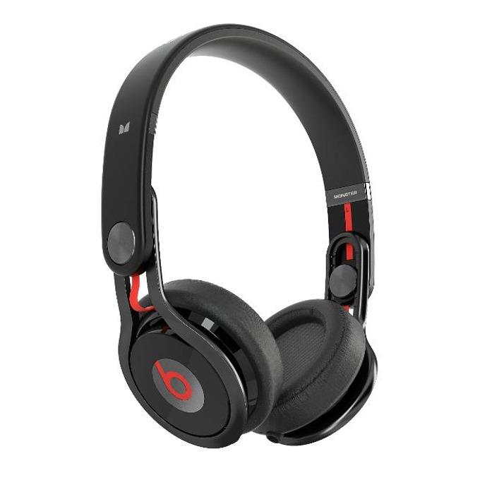 Професионални слушалки за DJ-и Beats by Dre Mixr by David Guetta, черни, сгъваеми, двоен input, оптимизирани за iPhone/iPad/iPod image