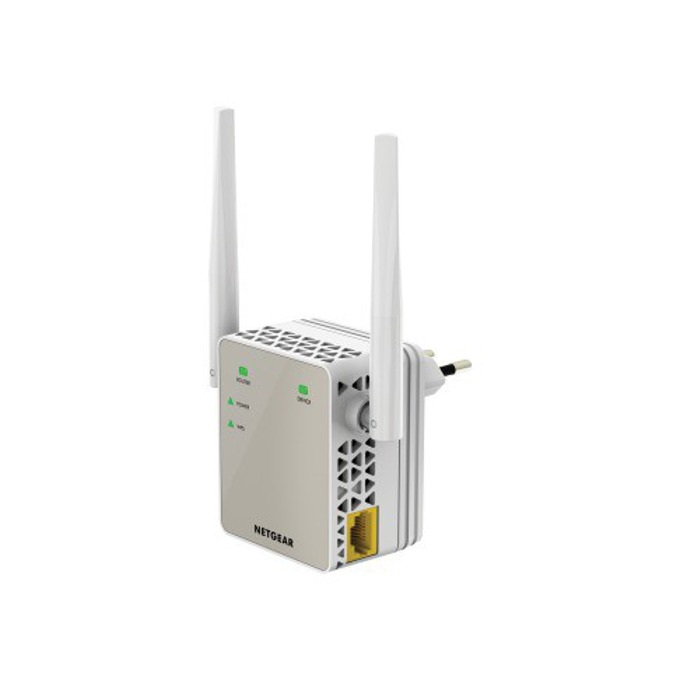 Range Extender/Репитер Netgear EX6120, AC1200 DUAL BAND, 1 x 10/100 Port, RANGE EXTENDER, 1200 Mbps, 802.11:ac, 2x външни антени image