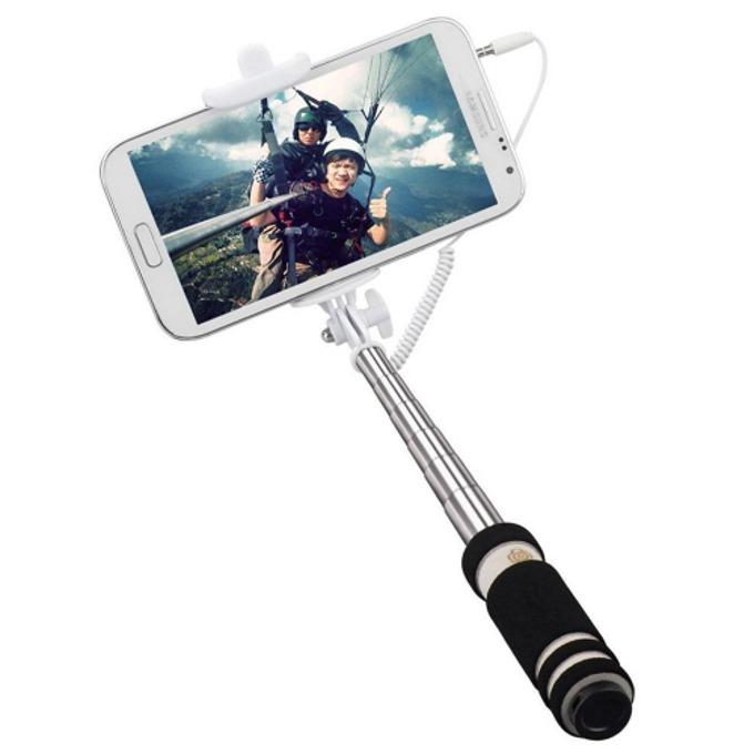 Селфистик Digital One SP00022, Monopod 48 см., сгъваем, телескопично разпъване, бутон за заснемане, алуминиева сплав, гумирана дръжка, черен image