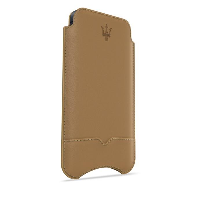 Калъф за Apple iPhone 5/5S/SE, джоб, кожен, Beyza, Maserati Stile camel, бежов image