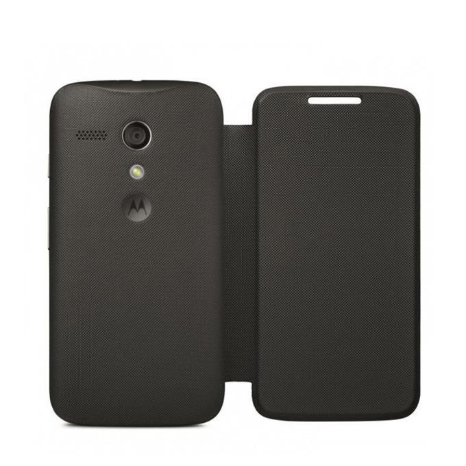Flip Cover за Motorola Moto G2, черен, поликарбонатов image