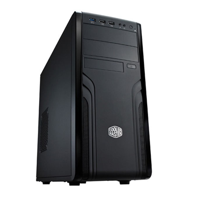Кутия CoolerMaster Force 500, ATX/Micro ATX, черна, USB 3.0, без захранване image