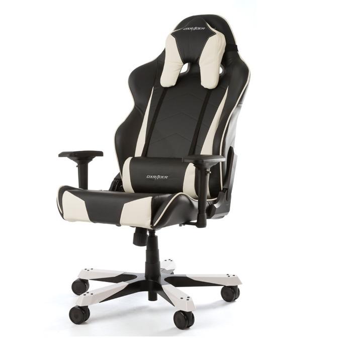 Геймърски стол DXRacer Tank OH/TS29/NW, черен/бял image