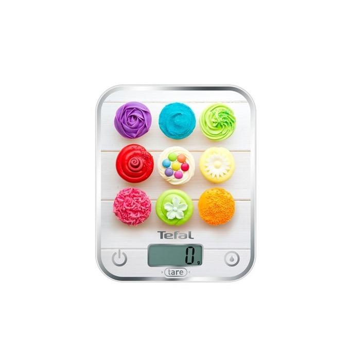 Кухненски кантар Tefal BC5122V0, дигитален, до 5 кг, точност до 1гр, LCD дисплей, функция за измерване на течности, бял  image