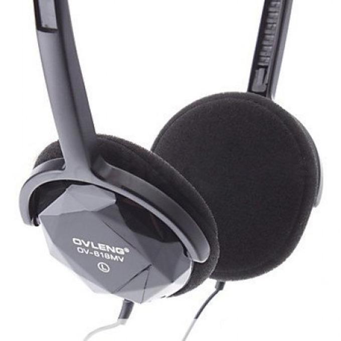 Слушалки OVLENG OV-L618MV, микрофон, черни image