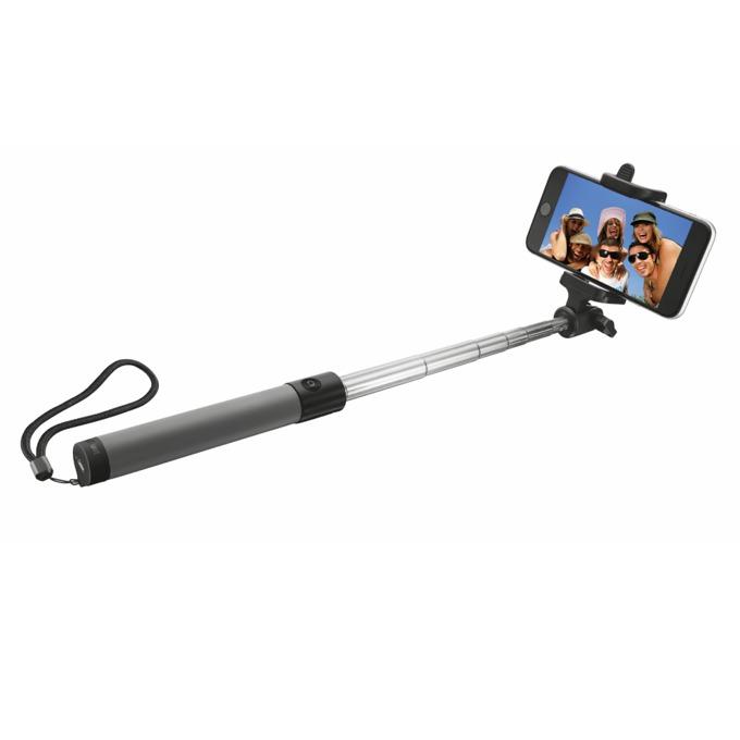 "Селфистик TRUST Bluetooth Foldable, до 6""(15.2см), Bluetooth, сгъваем, бутон за заснемане, черен image"