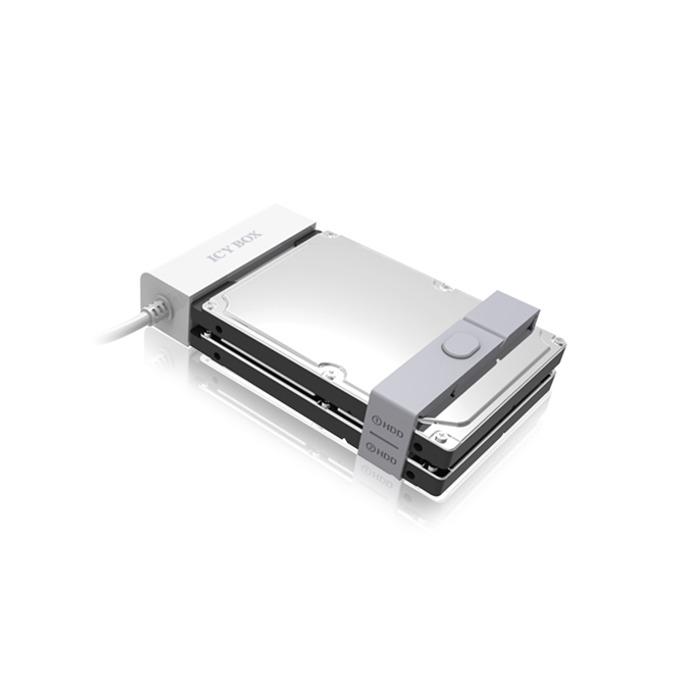 "Адаптер 2.5""(6.35 cm), Raidsonic IB-AC622-U3, за 2x 2.5"" SATA HDD/SSD към 1x USB3.0 хост с JBOD image"