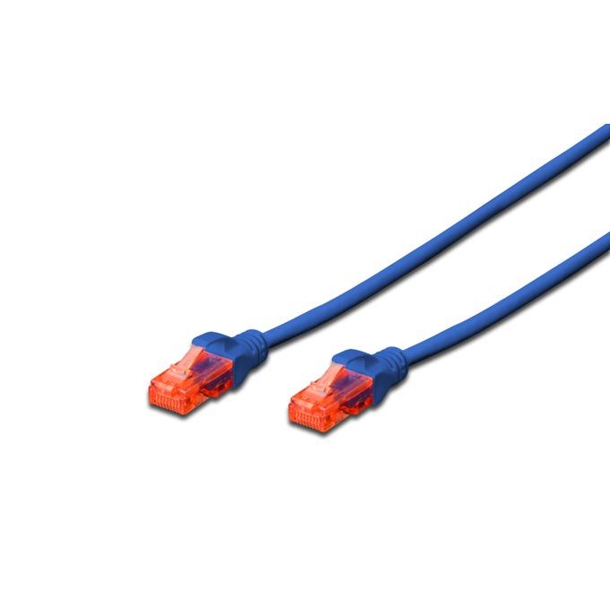 Пач кабел Digitus DK-1612-020/B, U/UTP, Cat 6, 2м, син image