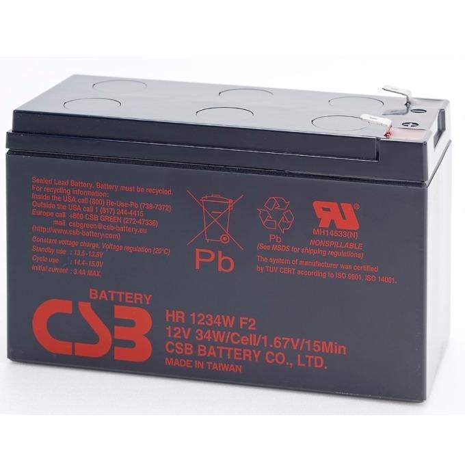 Акумулаторна батерия CSB HR1234WF2, 12V, 9 Ah image