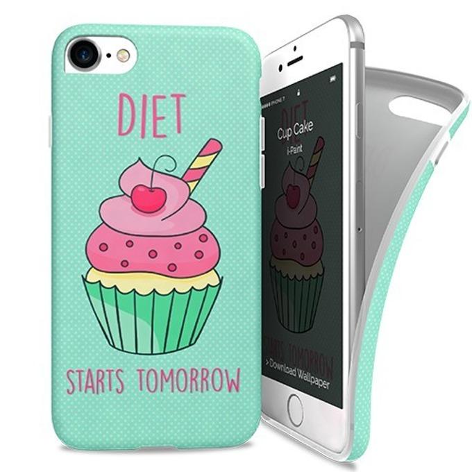 Калъф за iPhone 7, силиконов, iPaint Cup Cake Soft Case, зелен image