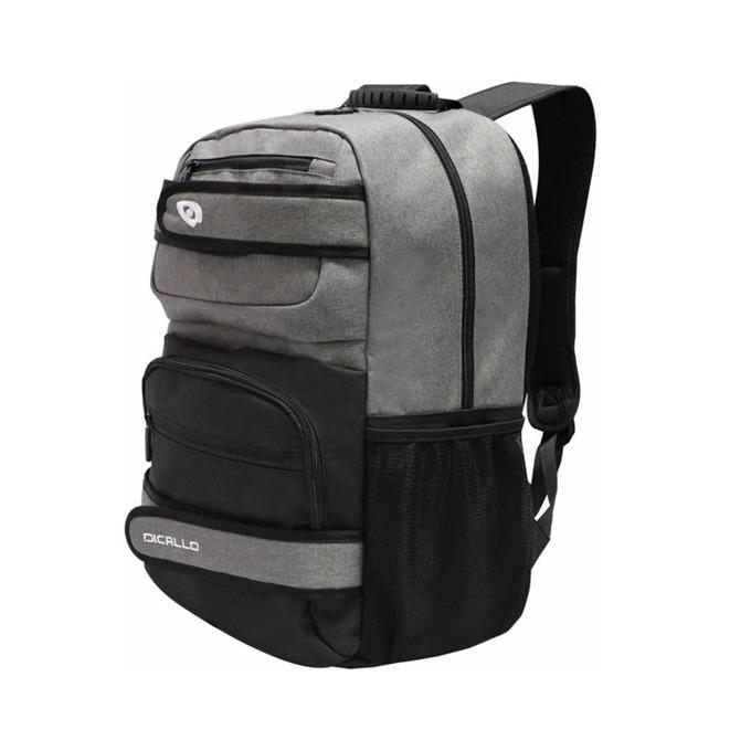 """Раница за лаптоп Dicallo LLB9692-17, до 17.3"""" (43.94 cm), отделение за таблет, сива-черна image"""