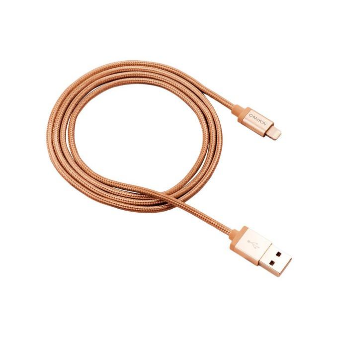 Кабел Canyon USB A(м) към Lightning, 0.96 m, златист image