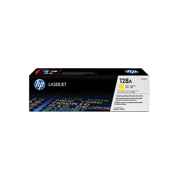 КАСЕТА ЗА HP COLOR LASER JET CM1415/CP1525/HP128A Print Cartridge - Yellow - P№ CE322A - заб.: 1300k image