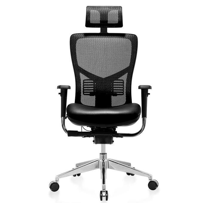Работен стол RFG TECH@PRO (ON4010200097), меш, 250 кг. максимално натоварване, алуминиева база, газов амортисьор, черен image