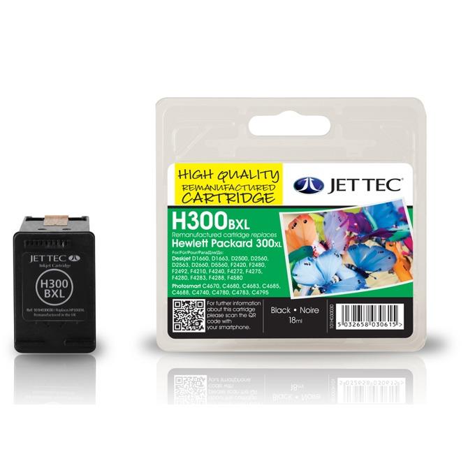 Глава за HP Deskjet D2560/ F4280-All in one - Black - CC641EE, HP300xl - Неоригинална - Jet Tec - Заб.: 18 ml image