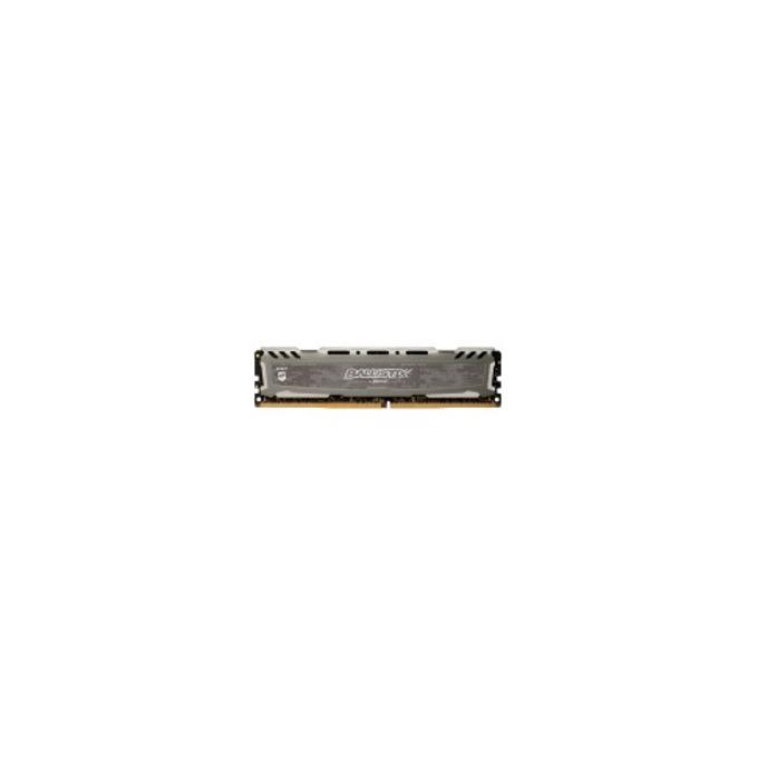 Памет 8GB (2x4GB) DDR4, 2400 MHz, Crucial Ballistix Sport LT Gray BLS8G4D30AESBK, 1.35 V image