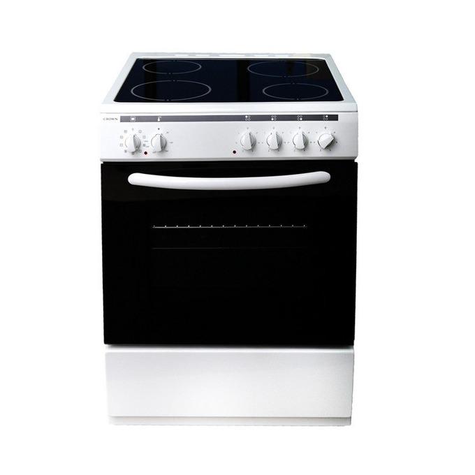 Готварска печка Crown 60C3MA, клас А, 4 нагреавателни зони, 56 л.вместимост на фурната, 8 функции на фурната, бяла image