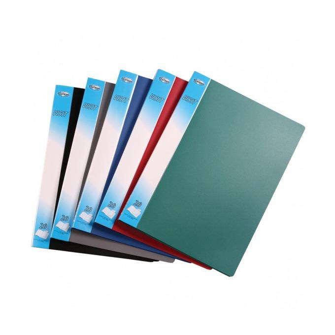 Папка Centrum Visit, за документи с формат до А4, с 40 джоба, различни цветове image