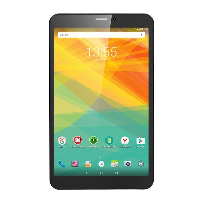 "Таблет Prestigio Wize 3418 (PMT3418_4GE_C)(черен), LTE, 8"" (20.32 cm) WXGA IPS дисплей, четириядрен MediaTek MT8735B 1.1Ghz, 1GB RAM, 8GB Flash памет(+microSD слот), 2.0 & 0.3 Mpix камера, Android, 363g image"