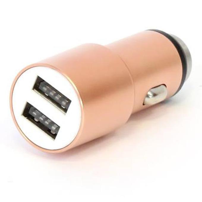 Зарядно за кола Omega Car Charger OUCC2MRG, от авт. запалка към 2x USB A(ж), 5V/2.1A, 1.0A, розово злато image