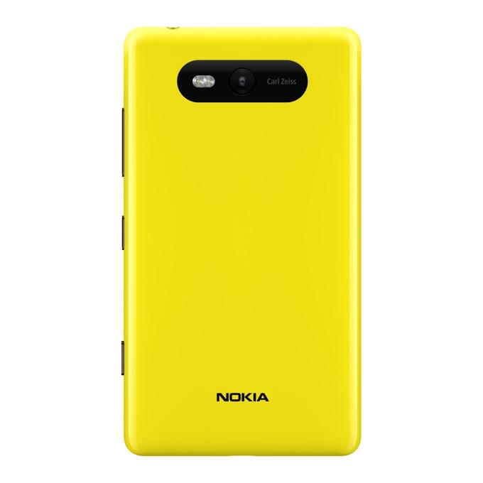 Заден капак Nokia Lumia 820, жълт image