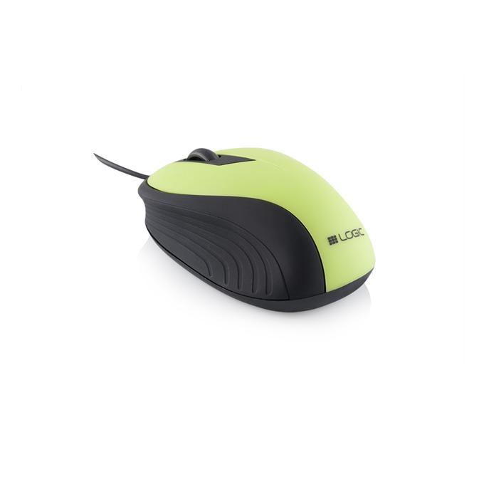 Мишка Logic wired LM-14,оптична (1000 dpi), зелена image