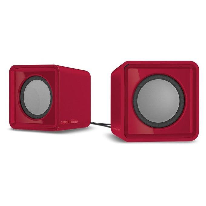 Тонколони Speedlink Twoxo, 2.0, 5W(2.5W +2.5W), USB, преносими, червени image