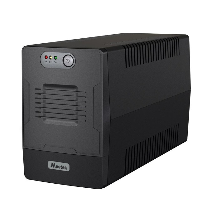 UPS Mustek PowerMust 1000 1000-LED-LI-T10, 1000VA/600W, Line Interactive, Mini Tower image
